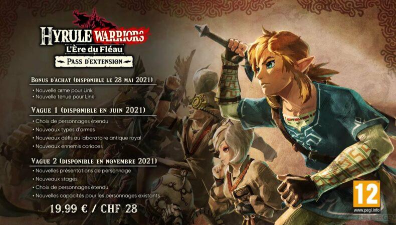 Hyrule Warriors : L'Ère du Fléau - détail pass