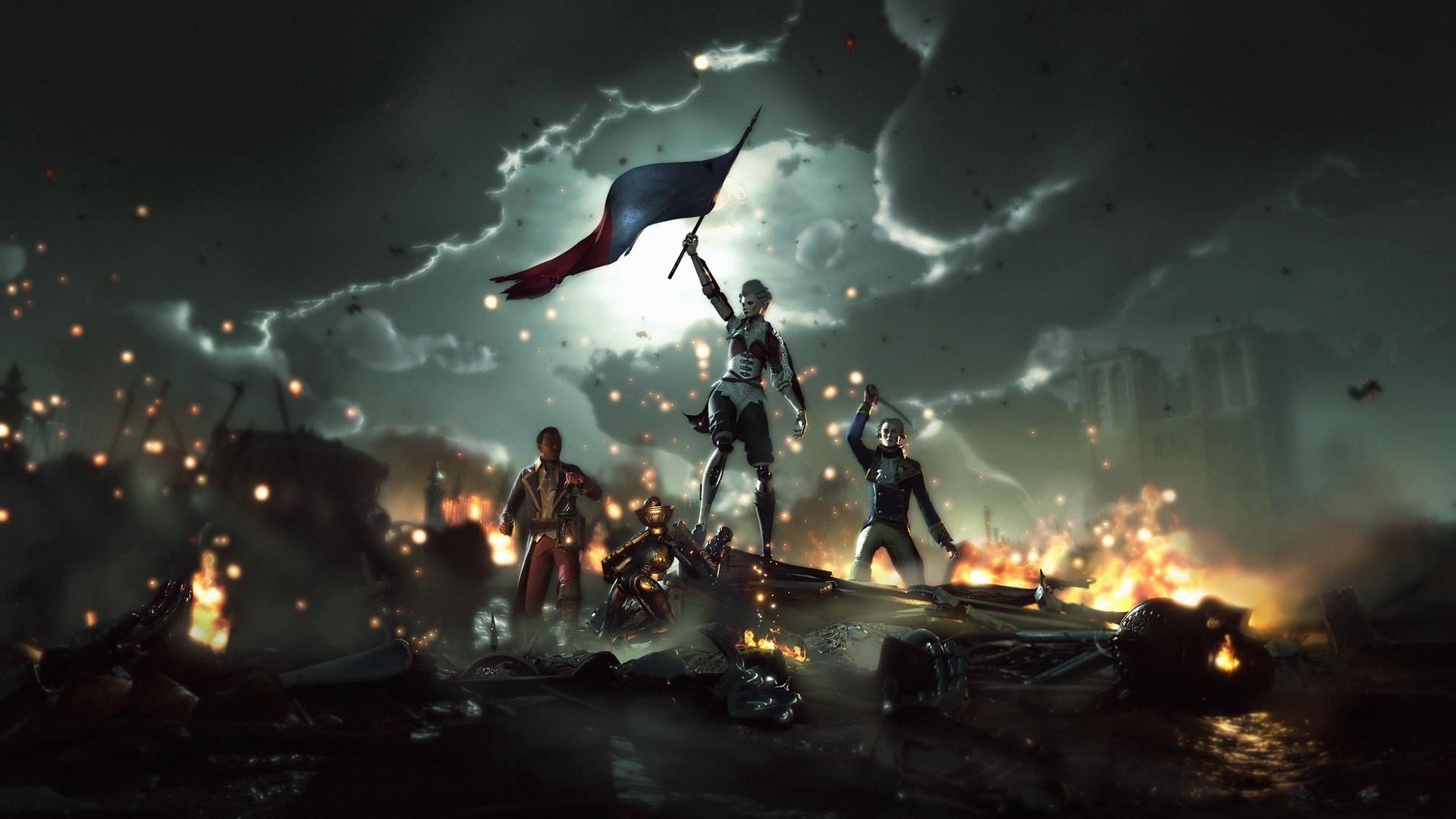 Steelrising drapeau
