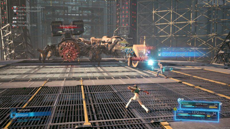 Test Final Fantasy VII Remake Intergrade - boss