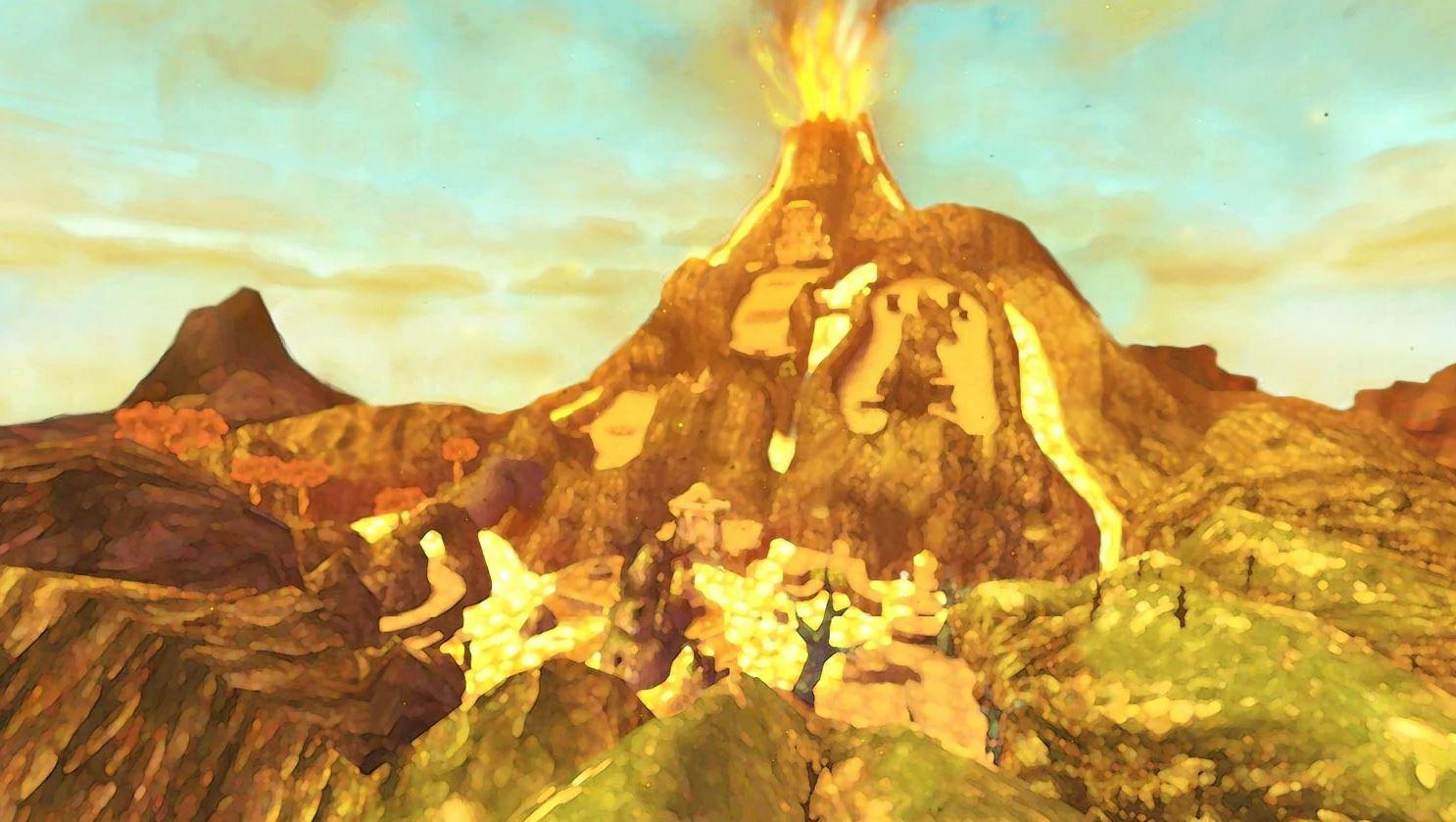 The Legend of Zelda: Skyward Sword HD cube volcan Odinn éruption