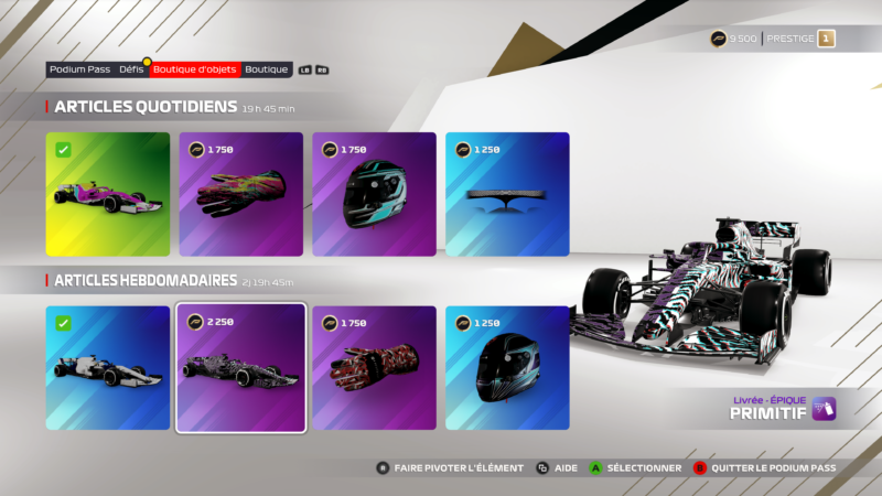 F1 2021 pass