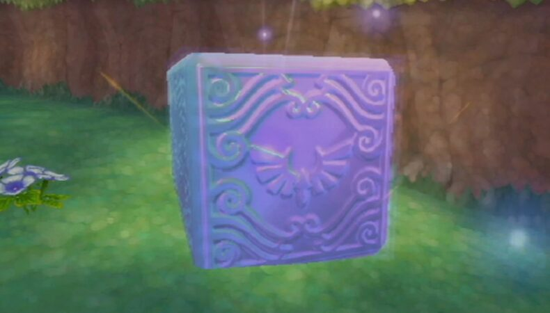The Legend of Zelda : Skyward Sword HD activation cube déesse