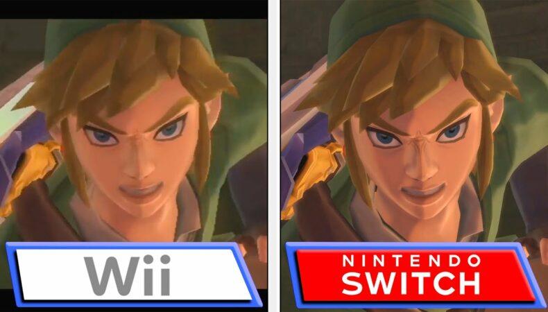 The Legend of Zelda: Skyward Sword HD comparatif