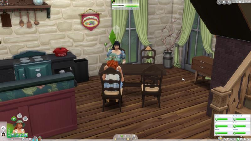 Les Sims 4 Vie à la campagne diner