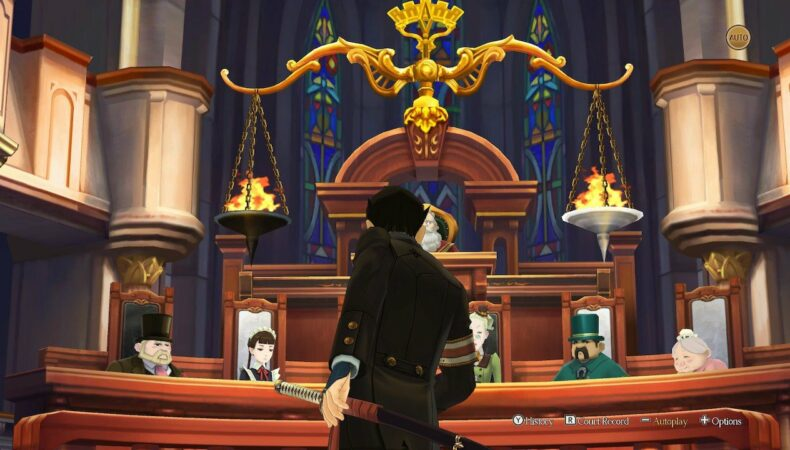 The Great Ace Attorney Chronicles tribunal